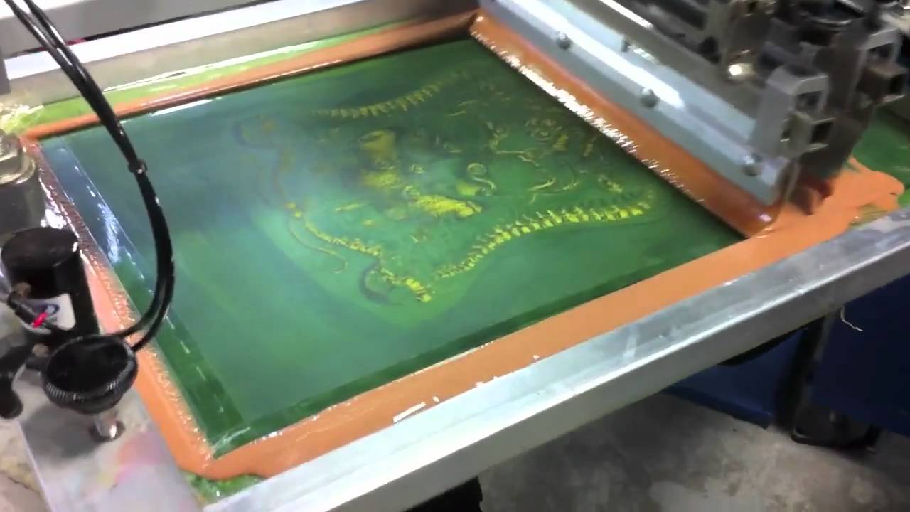 Discharge Water Based Screen Printing Youtube