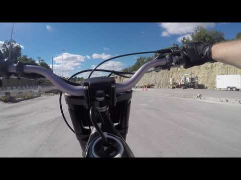 Dirtbike and trials bike explore new tunnel