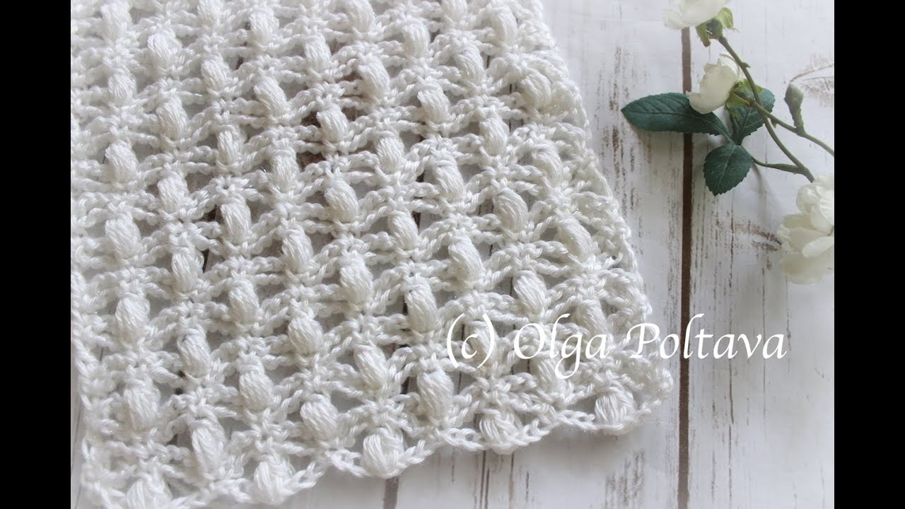 How To Crochet Lace Scarf With Puff Stitches Caron Simply Soft