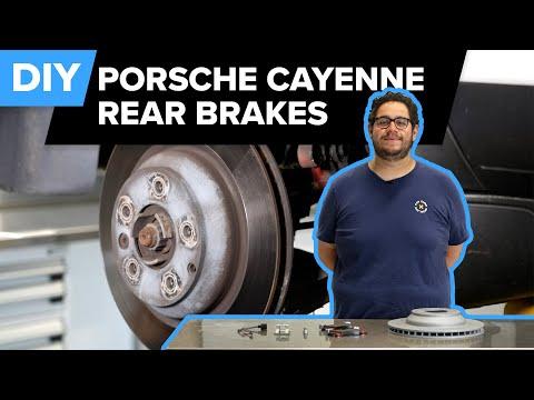 Porsche 957 Rear Brake Pads & Rotor Replacement DIY (2003-2010 Porsche Cayenne Turbo, S, GTS)