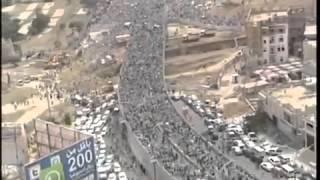 شاهد أكبر مظاهرة في صنعاء لرفض المشروع الحوثي الإيراني