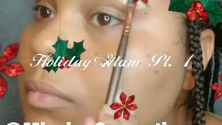 Holiday Glam Pt.1 |Gold Glitter Cut Crease