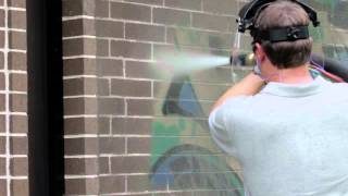 Easy Graffiti Removal with the Dustless Blaster