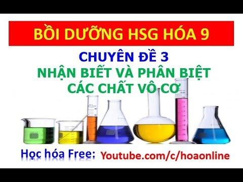 Nhận biết và phân biệt các chất vô cơ – Bồi dưỡng HSG hóa 9