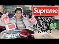 Supreme Week1 How Much did I Buy !? (Easy way to buy Supreme !)