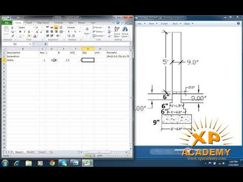 Quantity Surveyor Urdu Tutorial | L Shape Wall