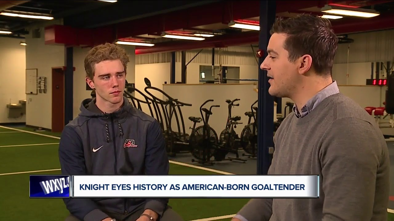 Former Boston College goalie Spencer Knight makes history and ...