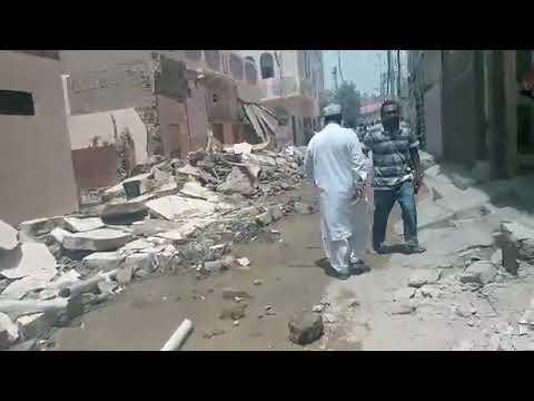 Karachi Anti Encroachment Campaign in Residential Area Jafar Tayyar Society 2018
