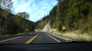 Driving from Nelson to Osoyoos - British Columbia - Canada