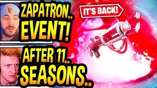 """Streamers React To *LIVE EVENT* """"UNVAULT"""" ZAPATRON *BACK* In Fortnite! (CRAZIEST EVENT!) Chapter 2"""