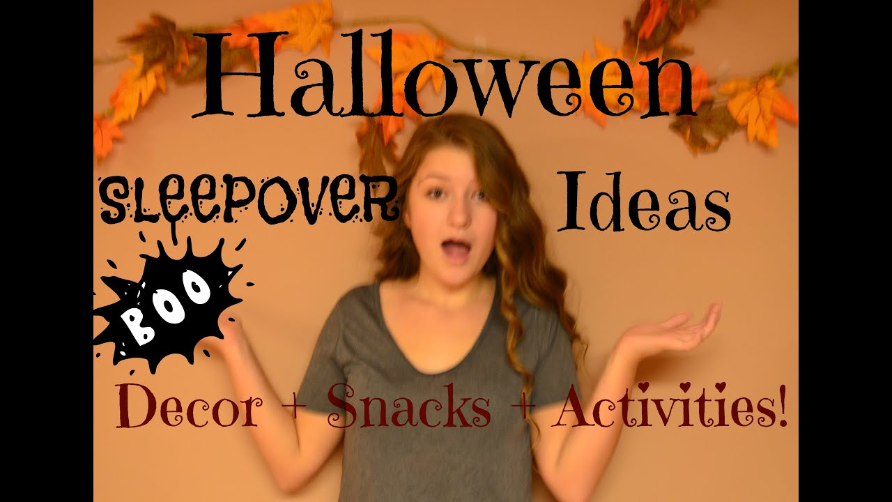 Watch How to Have a Scary Halloween Sleepover video