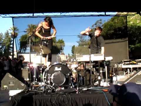 MATT AND KIM @ PASADENA MUSIC FESTIVAL- HANDS IN THE AIR