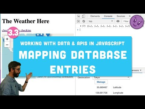 3.3 Mapping Database Entries with Leaflet.js - Working with Data and APIs in JavaScript thumbnail