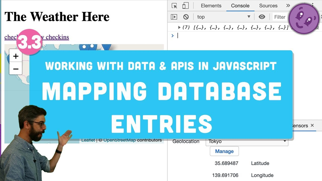 3 3 Mapping Database Entries with Leaflet js - Working with Data and APIs  in JavaScript