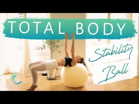 TOTAL BODY STABILITY BALL Pilates, Workout for Beginner & Intermediate