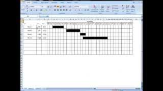 Excel Tutorial: Make interactive visual schedule (Gantt chart) with one formula!