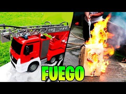 CAMIÓN DE BOMBEROS QUE DISPARA FUEGO REAL !! LLENAMOS EL CAMIÓN DE GASOLINA !! (EXPERIMENTO)