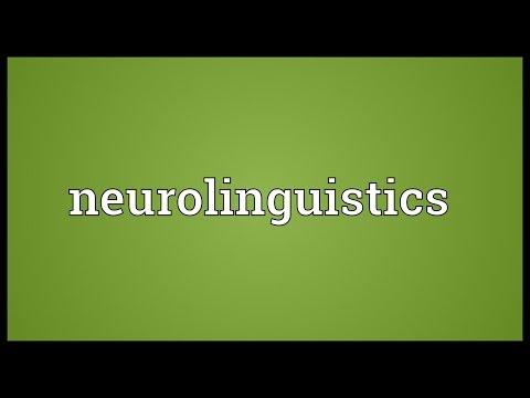 Neurolinguistics Meaning