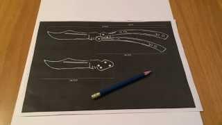 Как сделать нож-бабочка из бумаги(Всем привет, с вами Дима и сегодня я расскажу вам как сделать нож-бабочка из бумаги своими руками. Наш канал:..., 2015-11-02T16:51:32.000Z)