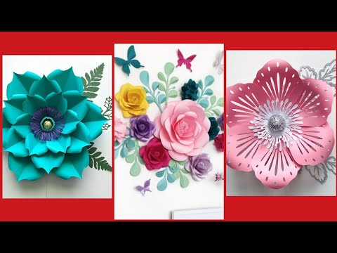 Beautiful and stylish paper flower decorations ideas for home decor