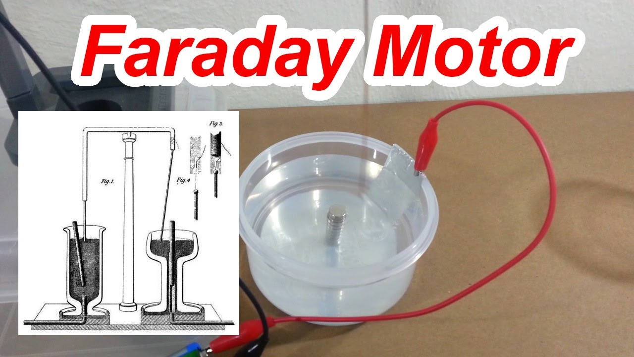 Faraday 39 s motor youtube for Michael faraday electric motor