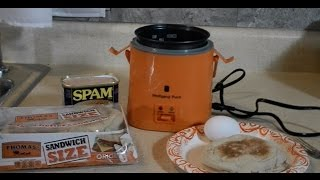 Egg Muffin Spam + Cheese Wolfgang Puck Rice Cooker