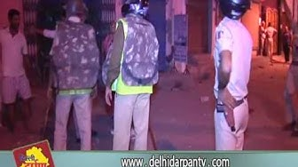 Clash between Delhi Police and Public in Shakurpur