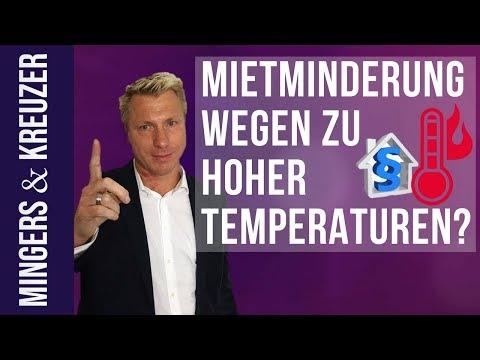 Mietminderung wegen zu hoher Temperaturen?   #FragMingers