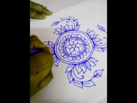 Muggulu new year 2015 colorful rangoli designs youtube - New Year2015 Amp Sankranti Rangoli Lotus Design Sans Dots
