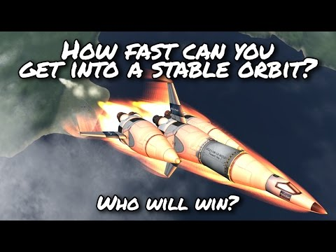 KSP 1.2  How fast can you get into a stable orbit? Challenge  - Kerbal Space Program -  Stock Parts