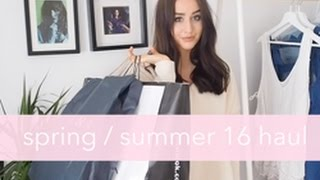 SPRING SUMMER 16 HAUL & TRY ON | ASOS MANGO TOPSHOP | Sophie Milner Fashion Slave
