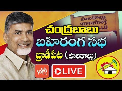 Chandrababu Naidu LIVE   TDP Election Campaign in Palakollu Constituency   AP Elections   YOYO TV