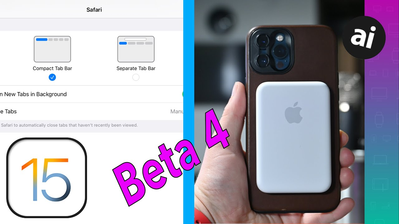 Download Everything NEW in iOS 15 Beta 4: Safari Redesign Is OPTIONAL, MagSafe Battery Support, & More!!