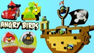 Angry Birds Jenga Surprise Eggs Go Pirate Pig Attack Game Kart Launchers Toy Ship by Hasbro