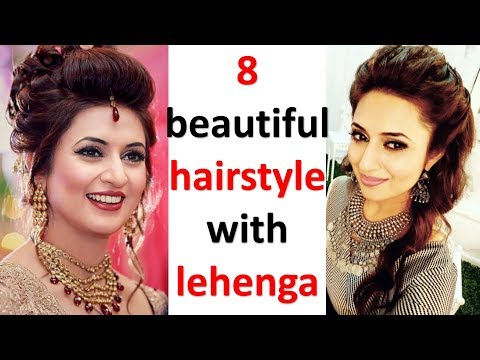 8 beautiful hairstyle with lehenga || wedding hairstyle || party hairstyle || prom hairstyle thumbnail