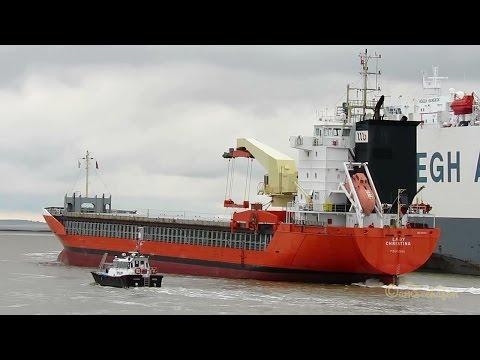 GMS SACHSENLAND, ORANJE NASSAU & ANDREAS, coaster LADY CHRISTINA & car carrier HOEGH DELHI