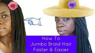 how to   jumbo braid crochet kanekalon hair   faster easier  heartmamavi