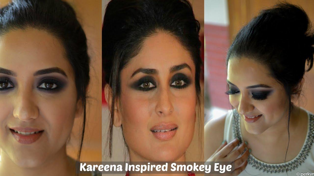 Kareena Kapoor Inspired Black Smokey Eye Makeup Tutorial Perkymegs