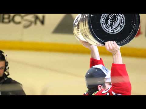 Patrick Sharp Holding the Cup