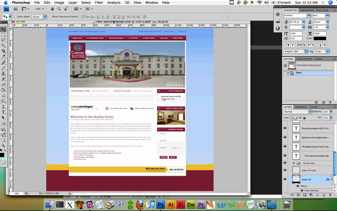 Web Design DeCal Fa10 Class Mini-Project 2 Part 2:  PSD to HTML and CSS -  Part 1 of 3