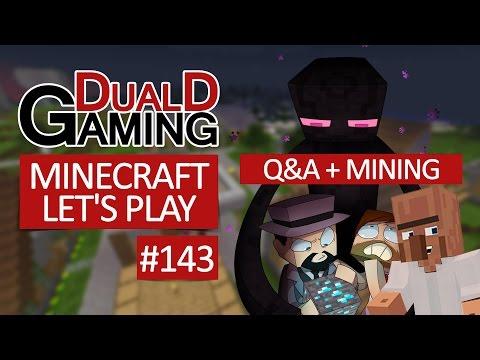 Minecraft Let's Play Med DDG - Episode #143 - Q&A + Mining
