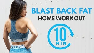 BACK FAT WORKOUT | 10 MINS HOME ROUTINE | Lose Back Fat & Under Arms Fat