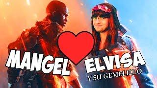 ELVISA, SU GEMELILLO Y MANGEL - BATTLEFIELD 1