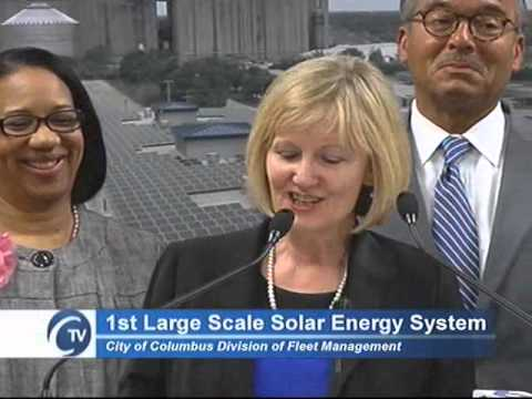 Columbus Dedicates City's First Large Scale Solar Energy Sys