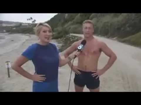 awkward scene reporter falls in love with badass australian bro during interview