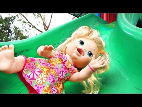Thumbnail: Baby Alive Playground Fun For Kids Swing Slide Baby Alive Doll