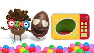 Learn Colors Toy Microwave Ozmo Surprise Egg - Mango Funny Kids