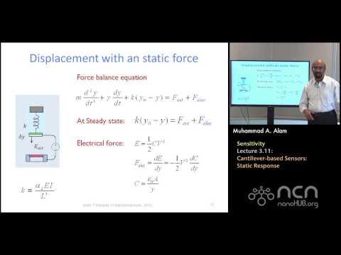 nanoHUB-U Nanobiosensors L3.11: Sensitivity - Cantilever-based Sensors - Static Response