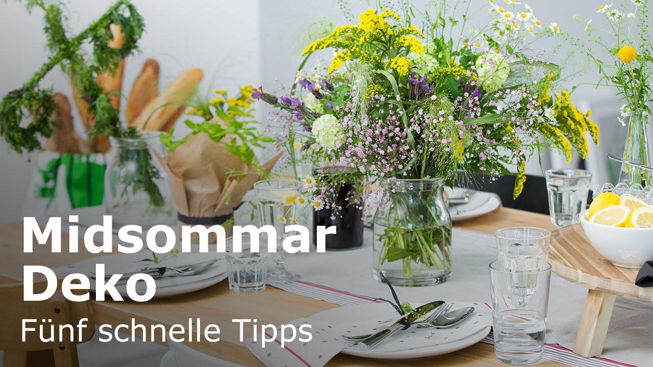 Ikea Midsommar Schwedische Tischdekoration Youtube