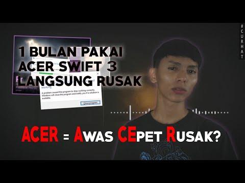 Service Laptop Acer Swift 3 Acerday Edition I5 Rusak + Claim Garansi Di ACSC Jakarta